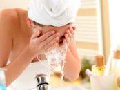 Reinigung der Haut